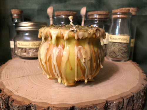 Calling Down the Sun - Cauldron Pillar Candle