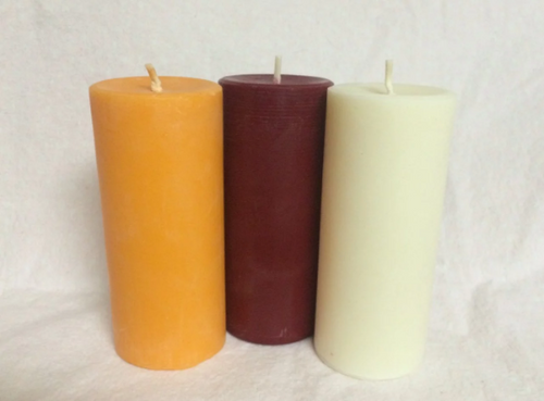 Autumnal Harvest Pillar Set of three Colored Candles-Limited Time Fall Pure Soy 2 x 4.5 in. Pillar Candles Scented, Unscented