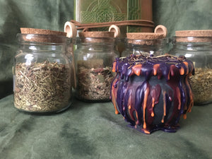 Samhain/Hallow's Eve - Wheel of the Year Cauldron Candle Collection