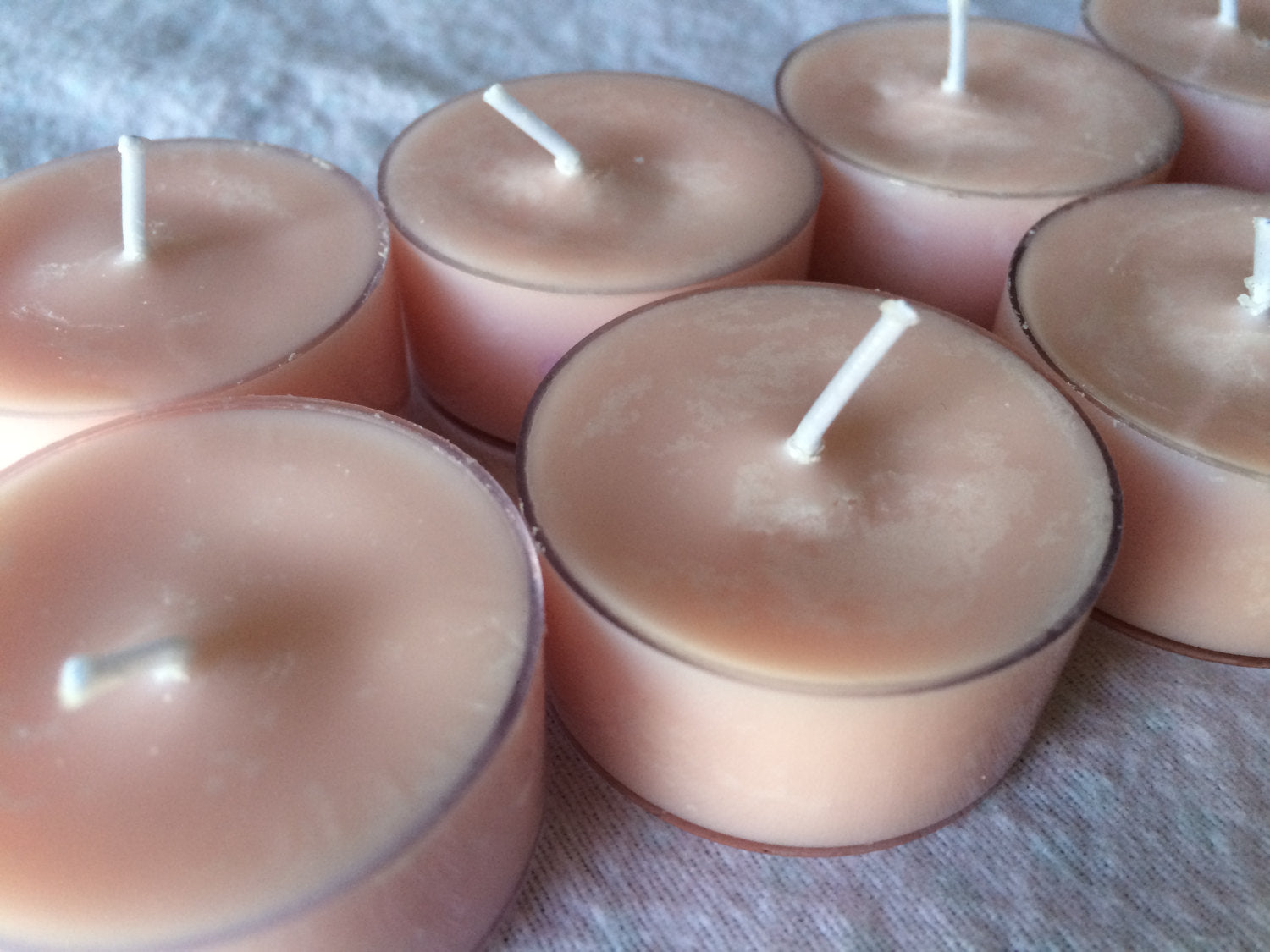 """3.25/"""" Tall /""""Agate/"""" Silver Glass Scented Candle Jar Thistle Fragrance"""