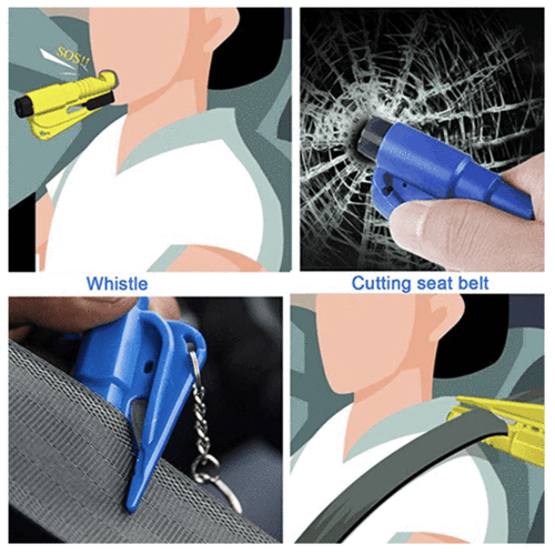 Trendy™ 3 in 1 Car Life Keychain