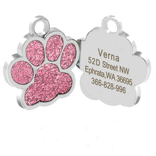 Load image into Gallery viewer, Personalized Paw Print Pet ID Tag - 5 Colors Available