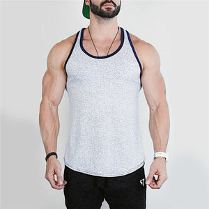 Bodybuilding stringer tank top for men