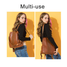 Load image into Gallery viewer, Trendy Three Way Anti-Thief Women's Backpack