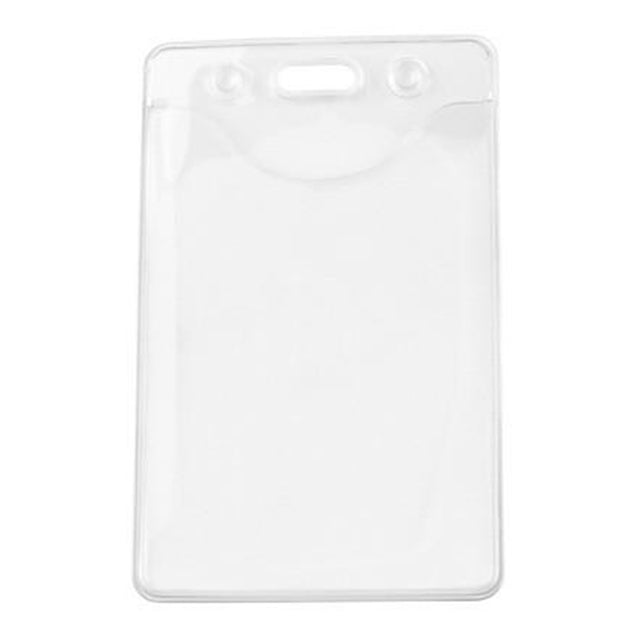 "Vinyl Badge Holder, Earth Friendly PureClear Holder 2.32"" x 3.5"" (59 x 89mm), DOP-free Badge Holder, thickness 0.51 mm front and 0.51 mm back, Color Clear - 100/pack"