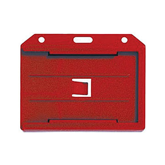 "Badge Holder, Rigid Badge Holder, 2-sided Open-Face Rigid Three Card Holder, Horizontal/Vertical Load,2.13"" x 3.38"" (54 x 86mm) - 50/pack"