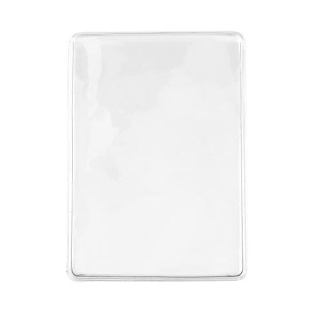 "Vinyl Badge Holder, Business Card Holder 2.30"" x 3.38"" (58 x 86mm), Economy Card Holder, thickness 0.2 mm front and 0.2 mm back, Color Clear - 100/pack"
