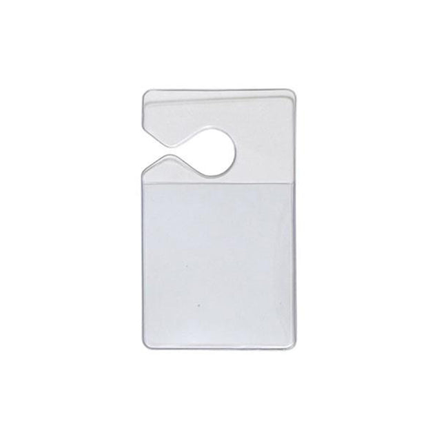 "Speciality Badge Holder, Vehicle ID Holder 2.63"" x 3.00"" (67 x 76mm), Vehicle Hang Tag, For Parking Pass or ID - Color Clear"
