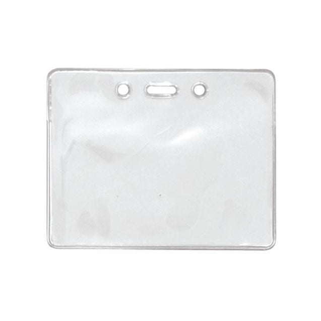"Badge Holder,Vinyl Badge Holder,Proximity Card holder,Heavy-Duty, Clear Vinyl, 3.50"" x 2.25"" (89 x 57mm), Color Clear -100/pack"