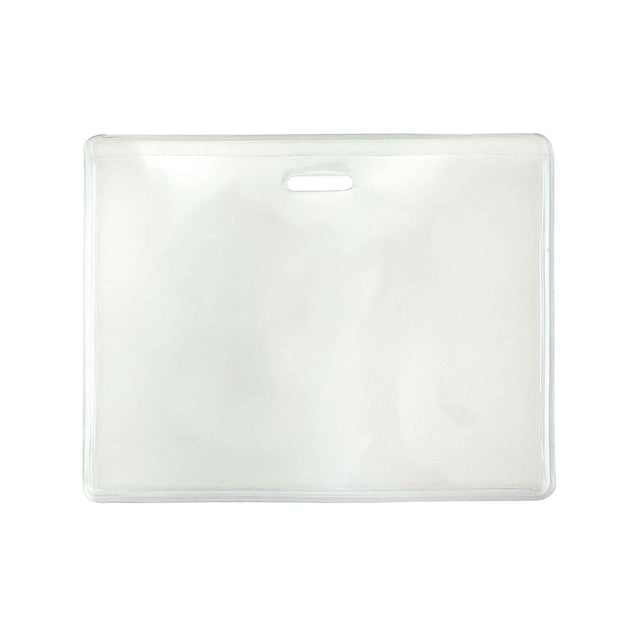 "Vinyl Badge Holder, Proximity Card holder 3.63"" x 2.50"" (92 x 64mm), S-Series, Soft, Flexible Vinyl - Color Clear - 100/pack"