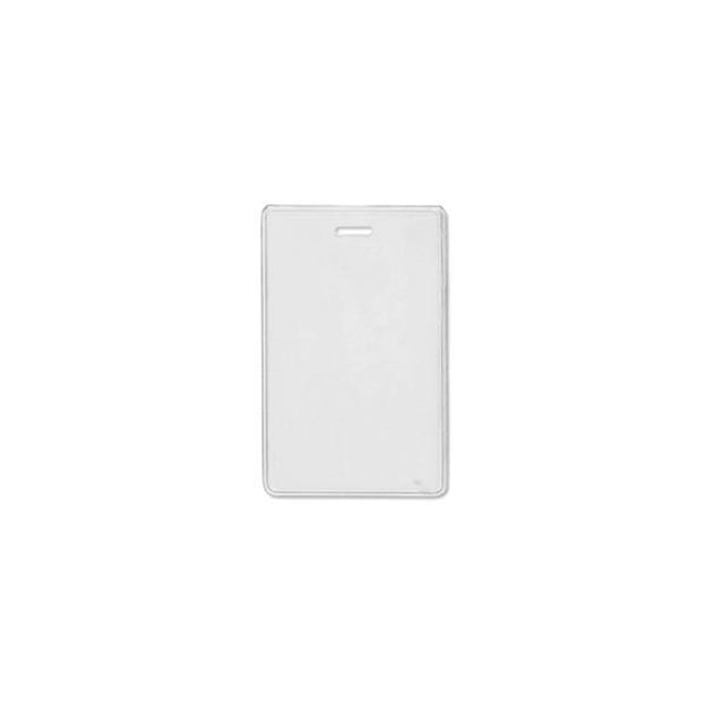 "Badge Holder,Vinyl Badge Holder,Proximity Card holder,Heavy-Duty, Clear Vinyl, 2.38"" x 3.75"" (60 x 95mm), Color Clear - 100/pack"