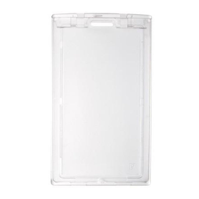 "Badge Holder, Rigid Badge Holder,""KEY"" Locking Two-Card holder,Horizonta/Vertical Load,3.38"" x 2.13"" (86 x 54mm), Clear"