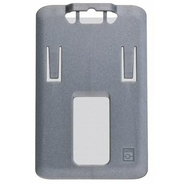 "Rigid Badge Holder, B.Holder One Card Holder Data / Credit Card Size, Inside : 2.13"" x 3.38"" , Top Load, Slot / Chain Holes - 50/pack"