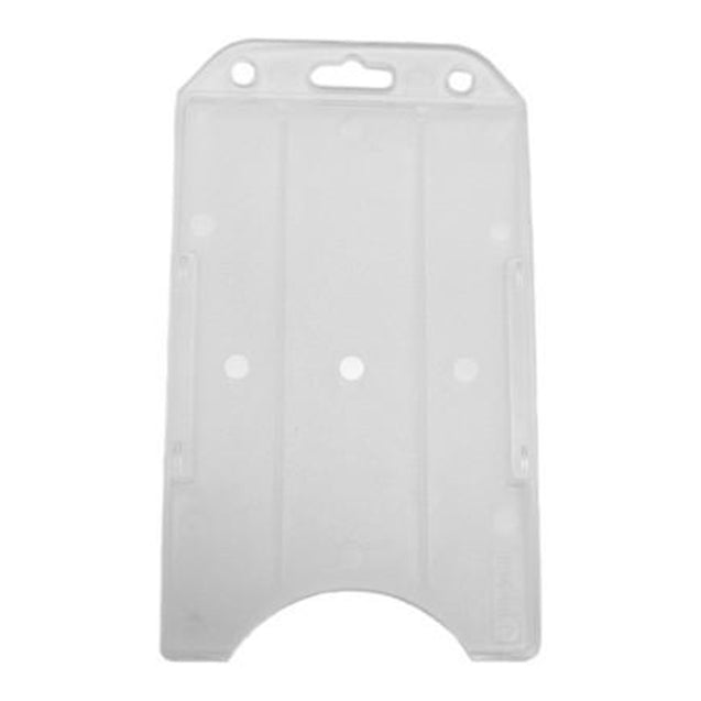 "Badge Holder,Rigid Badge Holder,Convertible Multi-Directional One Card holder,Horizontal / Vertical Load,2.13"" x 3.38"" (54 x 86mm) - 1000/pack"