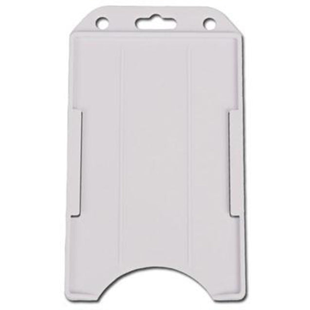 "Badge Holder,Rigid Badge Holder,Convertible Multi-Directional One Card holder,Horizontal / Vertical Load,2.13"" x 3.38"" (54 x 86mm) - 50/pack"