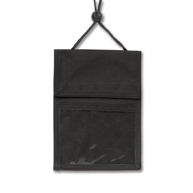 "Speciality Badge Holder, Credential Wallet 6.00"" x 4.63"" (152 x 118mm); 3.00"" x 4.63"" (76 x 118mm), 3-Pocket Credential Wallet with Pen Compartments, Adjustable Neck Cord"
