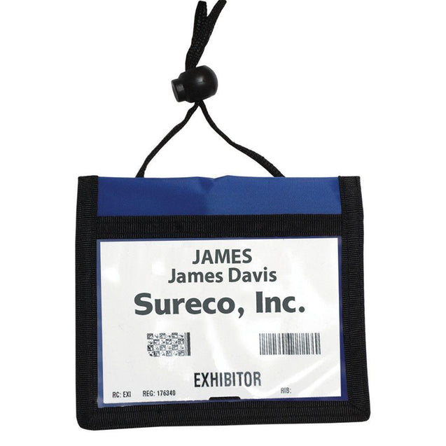 "Speciality Badge Holder, Credential Wallet 4.00"" x 3.00"" (102 x 76mm), 3-Pocket Credential Wallet with Adjustable Neck Cord, Adjustable Neck Cord"