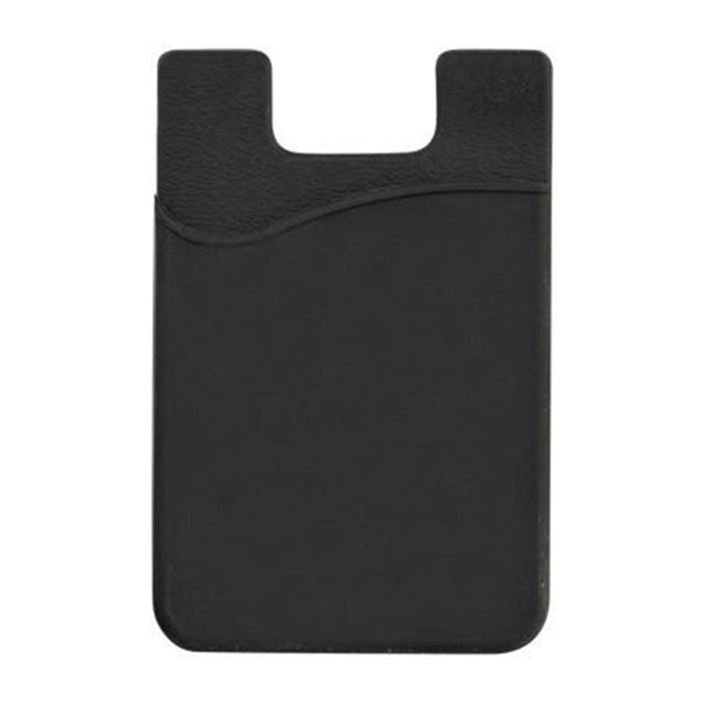 "Badge Holder,Adhesive Silicone Wallet,Silicone Rubber Wallet with 3M Adhesive Back,Hold up to 3 cards, 2.25"" x 3.38"" (57 mm x 86 mm), Color Black"