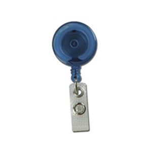 "Round Badge Reel, Belt Clip Style 1 1/4"" (32mm), Reel Diameter 1 1/4"" (32mm), Cord Length : 34"" (864mm), Label size : 3/4"" (19mm), Reinforced Vinyl Strap - 25/pack"