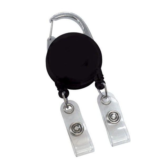 Badge Reel, Dual Strap Carabiner