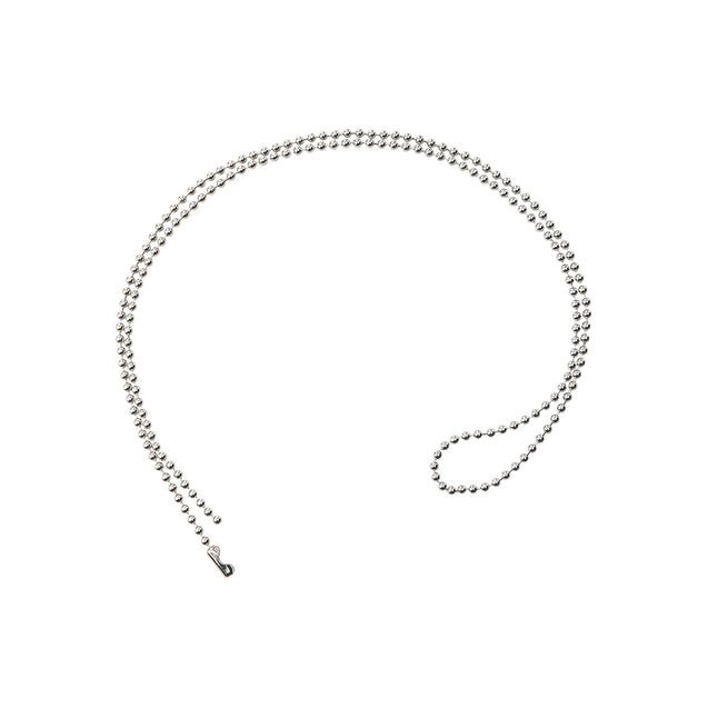 "Ball Chain, Steel Ball Chain with Connector No. 3 (2.3mm), Nickel-Plated, Length 24"" (610mm), Bead Size No.3 (2.3mm) - Color Sliver - 100/pack"