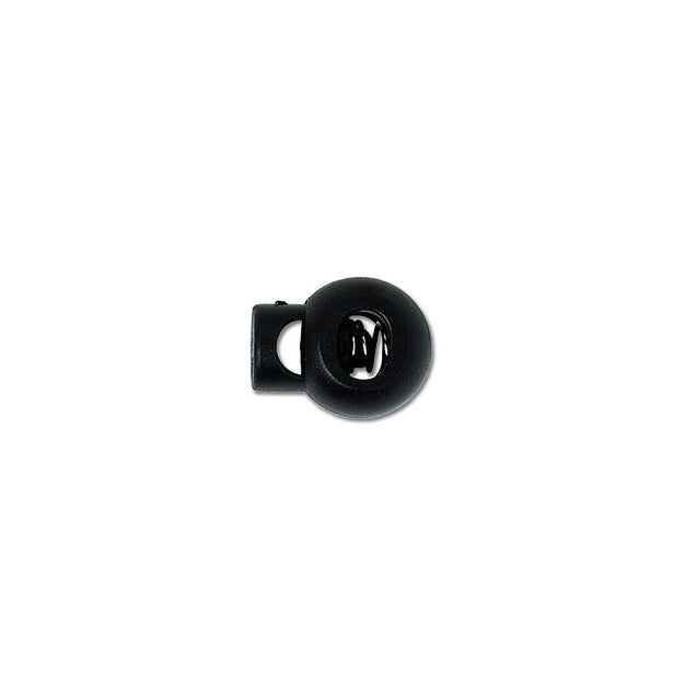"Attachment, Lanyard Cord Lock 7/10"" (17.5mm), Spring-Loaded Sliding Adjuster, For Round and Flat lanyard (3/8"" 10mm material only), - Color Black - 100/pack"