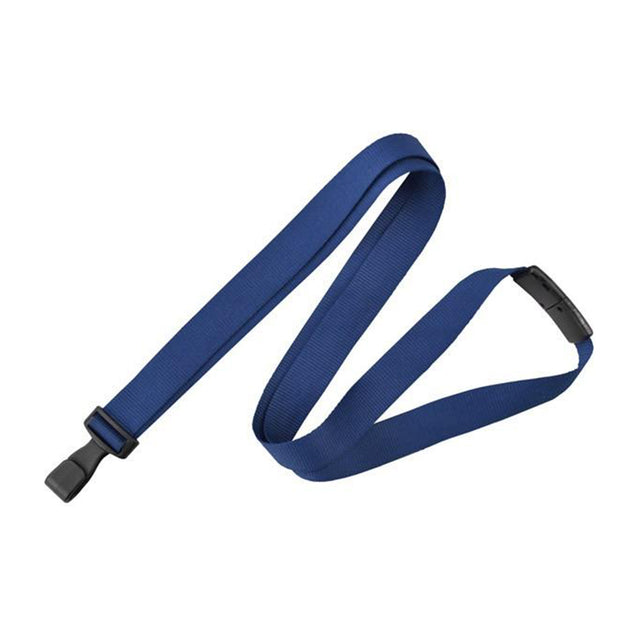 "Standard Lanyard, Anti-Microbial Lanyard 5/8"" (16mm), Breakaway, Wide Plastic No-Twist Hook, 5/8"" (16mm) wide x 36"" (900mm) long - 100/pack"