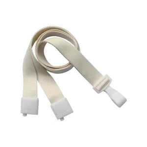 "Standard Lanyard, Recycled PET Lanyard 5/8"" (16mm), Breakaway, Wide Plastic No-Twist Hook, 5/8"" (16mm) wide x 36"" (900mm) long - 100/pack"