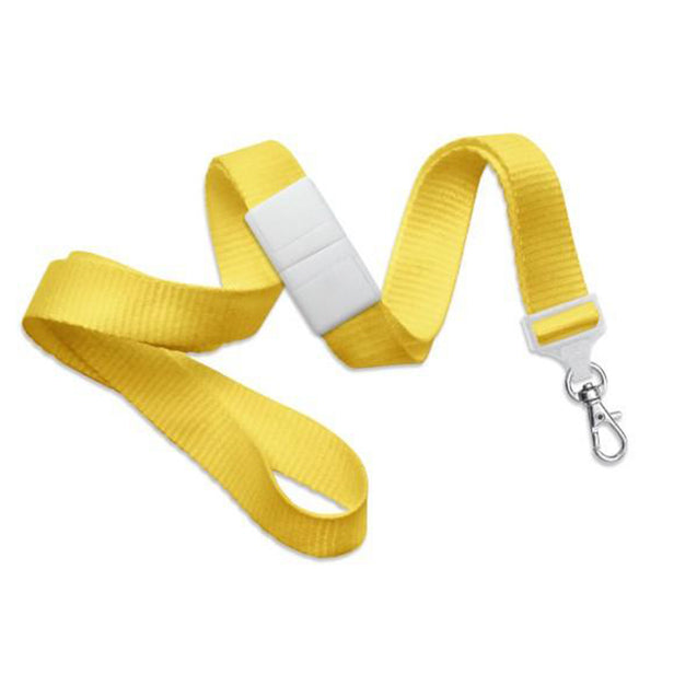 "Standard Lanyard, Flat Polyester Lanyard 5/8"" (16mm), Flat Ribbed Polyester Lanyard, Breakaway, Trigger Snap Swivel Hook, 5/8"" (16mm) wide x 36"" (900mm) long, Universal Slide Adapter - 100/pack"