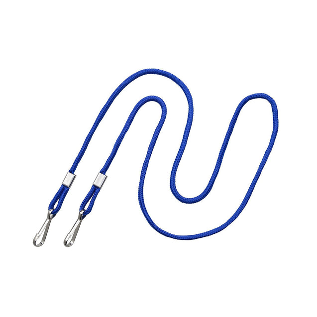 "Standard Lanyard, Open-Ended Event Lanyard 1/8"" (3mm), Round Polypropylene Lanyard, Non-Breakaway, Two NPS Hooks, 1/8"" (3mm) wide x 36"" (900mm) long - 100/pack"