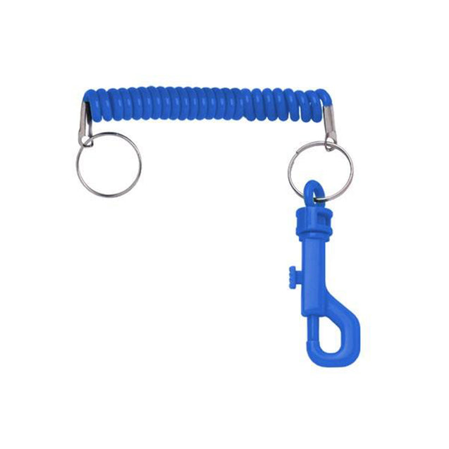 "Retainer and Wrist Coil, Casino Slot Card Holder with Expandable Coil Cord 5 1/4"" (144 mm) to 10 - 72"" (254 - 1829 mm), One end with Split Ring and One End with 2.5"" plastic swivel snap J Hook, Heavy-duty nylon construction, Convenient for Multiple Cards"