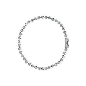 "Luggage Accessory, 5"" (127mm) NO. 3 (2.3mm bead), Ball Chain w/connection, Nickel Plated Steel - 1000/pack"