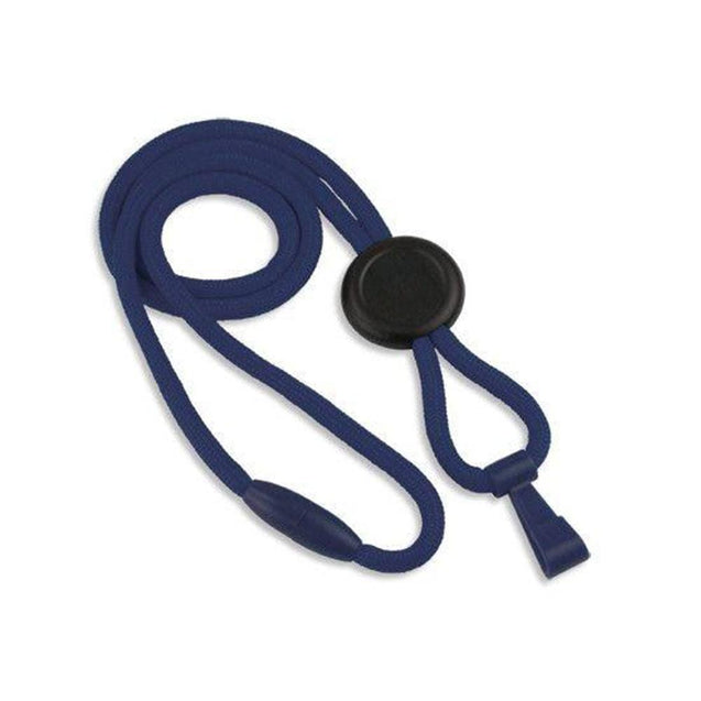 "Standard Lanyard, No Flip Lanyard 1/4"" (6mm), Round lanyard, Breakaway, no-Flip plastic hook, 1/4"" (6mm) wide x 36"" (900mm) long - 100/pack"