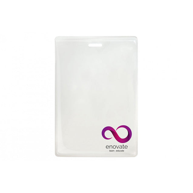 "Vinyl Badge Holder, Anti-Print Transfer Badge Holder 3.00"" x 4.50"" (76 x 114mm), Slot and Lock In Style, thickness 0.51 mm front and 0.51 mm back, Color Clear - 100/pack"