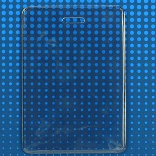 "Badge Holder,Vinyl Badge Holder,Proximity Card holder,Heavy-Duty, Clear Vinyl, 2.25"" x 3.00"" (57 mm x 76 mm), Color Clear - 100/pack"