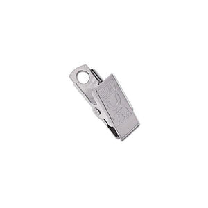 "Bulldog Clip, NPS Embossed U Thumb-Grip Clip 1 3/16"" (30mm), with Overlapping Jaw, - Color NPS - 100/pack"