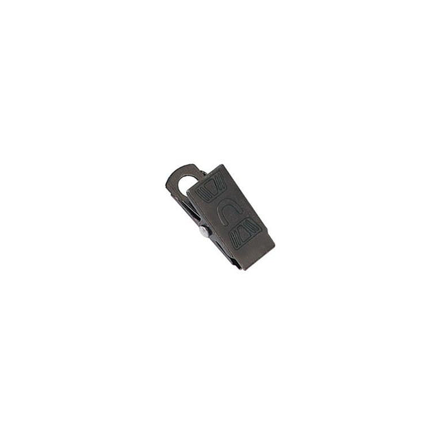"Bulldog Clip, Black Oxide Steel Embossed U Clip 1 1/16"" (27mm), with Steel Shank and Overlapping Jaw, - Color Black Oxide - 100/pack"