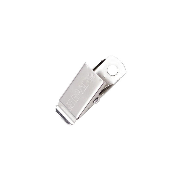 "Bulldog Clip, NPS Brady Clothing Friendly Clip 1 1/16"" (27mm), Patented Garment Friendly Clip, - Color NPS - 100/pack"