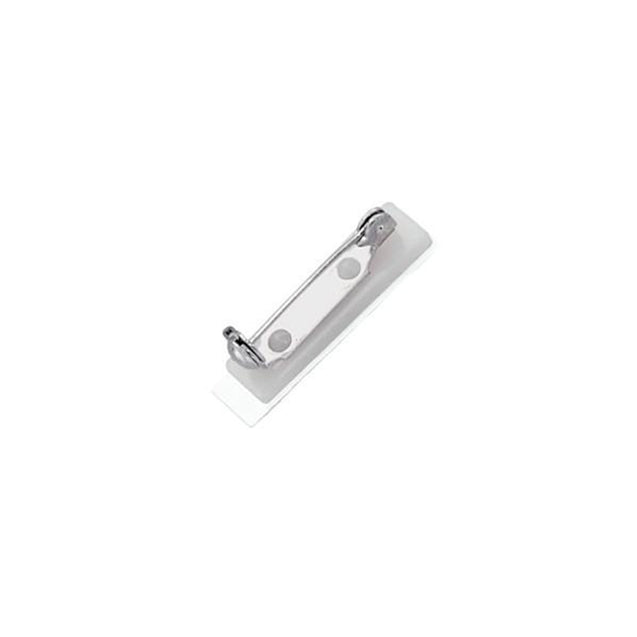 "Badge Attachment, Bar Pin 1"" (25.4MM), Pressure Sensitive NPS Steel Pin, Plastic ABS Base , Pin Size 1""(25.4mm), Pad Dimensions 1 1/8"" x 1/4"" (28.5 x 6.5 mm), - Color Pin - 500/pack"
