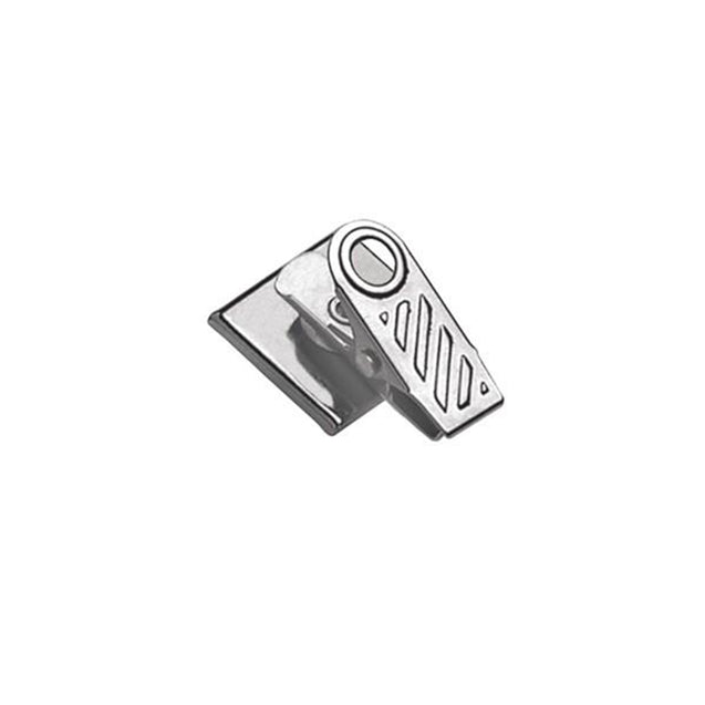 "Badge Attachment, Pressure Sensitive Clip 1"" (25.4MM), 1 Hole Ribbed-Face Clip W/ Fitted Square Base, Clip Size 1""(25.5mm), Pad Size 3/4"" x 3/4"" ( 19mm x 19mm), - Color NPS - 100/pack"