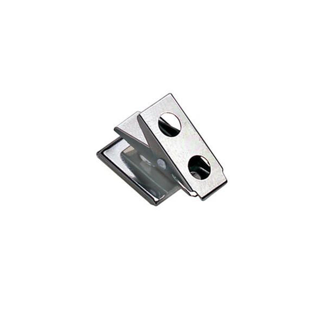 "Badge Attachment, Pressure Sensitive Clip 1"" (25.4MM), 2-Hole Clip W/ Fitted Square Base, Clip Size 1""(25.5mm), Pad Size 3/4"" x 3/4"" ( 19mm x 19mm), - Color NPS - 100/pack"