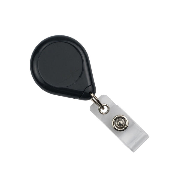 "Premium Badge Reel, Belt Clip Style 1 1/2"" (38mm), Reel Diameter 1 1/2"" (38mm), Cord Length : 34"" (864mm), Label size : 1"" (25mm), Clear Vinyl Strap, - 25/pack"