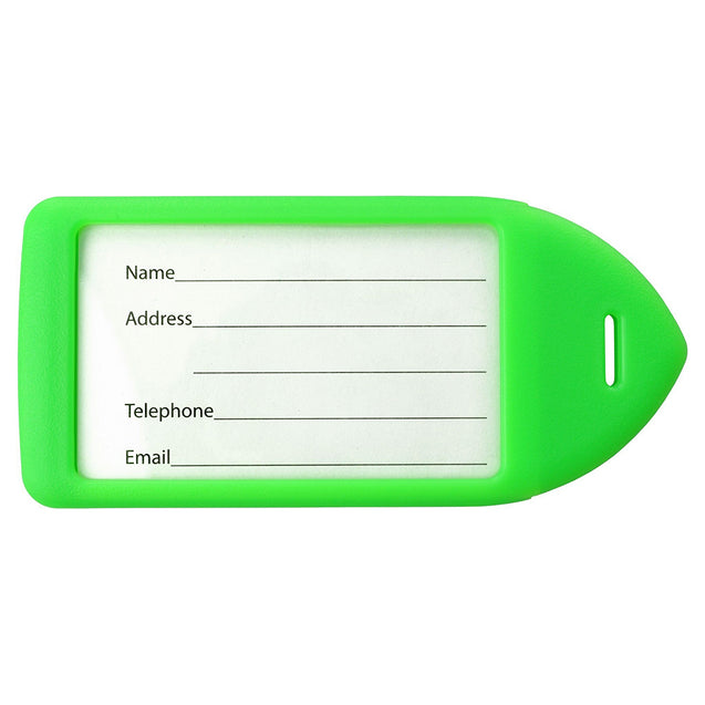 "Luggage Tag, Rigid Luggage Tag 4-1/4 x 2-1/2"" (108 x 64mm), ( Luggage Loop Sold Separately) - 50/pack"