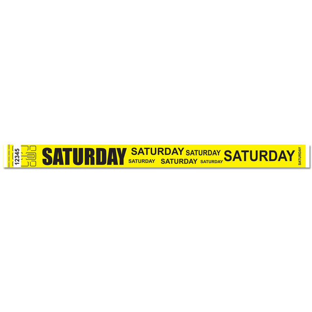"Expressions® 3/4"" - Admissions SATURDAY NTX112 - 500/pack"