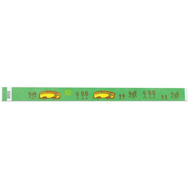 "Expressions® 3/4"" - Child Safety SCHOOL BUS NTX17 - 500/pack"