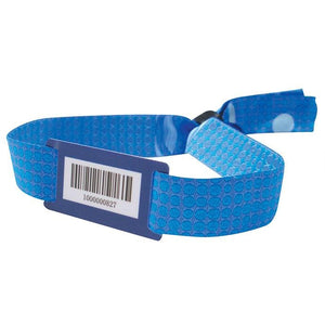 "Woven Wristbands Woven Bar Code Wristbands 1/2"" - High-Security Closure WOVB - 100/pack"