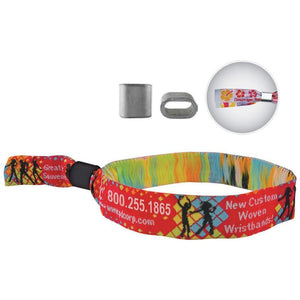 "Woven Wristbands Woven Wristbands 1/2"" - Metal Closure WOVMC - 500/pack"