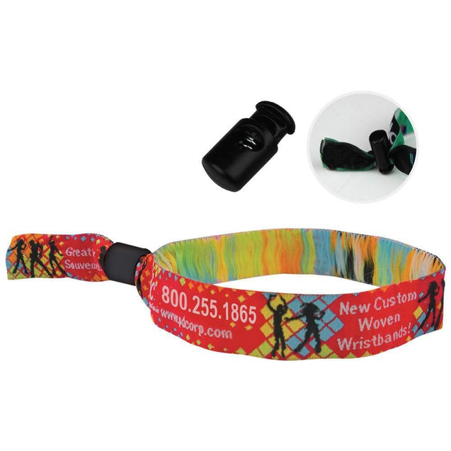 "Woven Wristbands Woven Wristbands 1/2"" - Reusable Spring Closure WOVR - 500/pack"