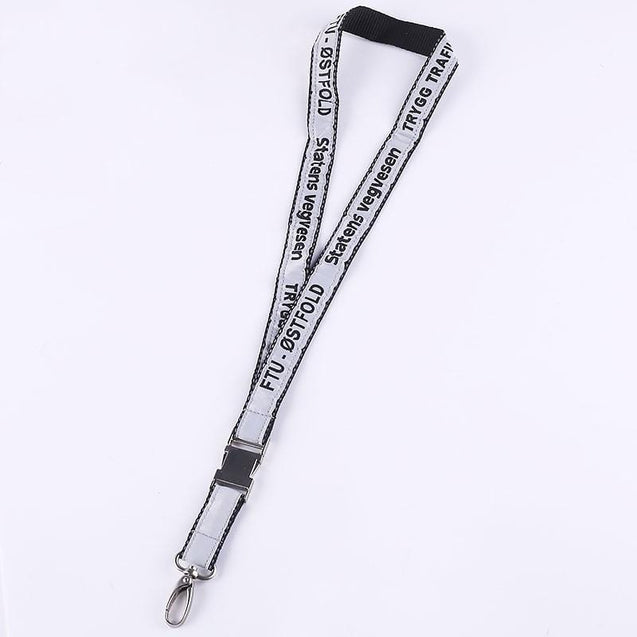 Woven Label Lanyard with Metal Buckle W1914