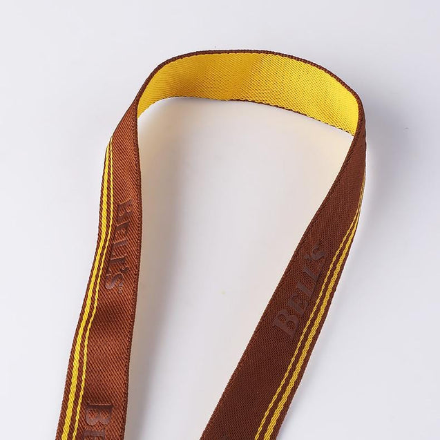Woven two-side Color Lanyard with Debossed Logo W1912